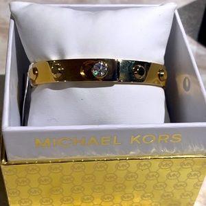 Micheal Kors Gold Cuff Bracelet